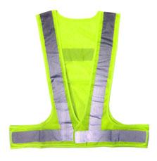 ベスト メッシュ安全ベスト【まとめ買い 10枚】蛍光イエロー 夜間 反射 メッシュベスト 安全 safety