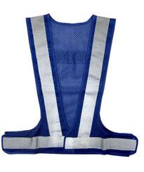 【まとめ買い 10枚】メッシュ安全ベスト ブルー 夜間 反射 メッシュベスト 安全 safety
