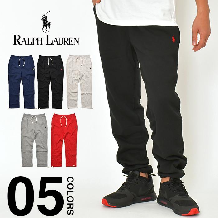 ラルフローレン スウェットパンツ メンズ レディース POLO RALPH LAUREN 厚手 裏起毛 スウェット 大きいサイズ ゆったり ストレート ポニー ミニ刺繍 黒 赤 紺 グレー ダンス衣装 ストリート スポーツ ファッション S M L XL 2XL