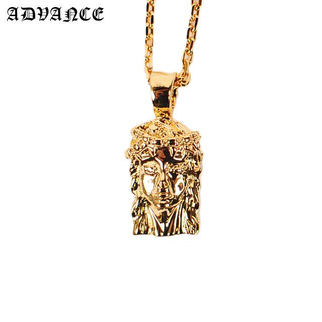 Advance gold mini jesus head necklace arg advance gold mini jesus head necklace mozeypictures Gallery