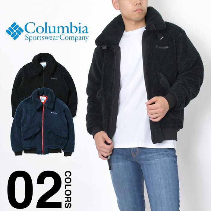 【セール】コロンビア ジャケット モコモコ ボア COLUMBIA フリースジャケット メンズ レディース クラークドームジャケット CLARK DOME JACKET ロゴ アウター 大きいサイズ 防寒 防風 あったか ブラック ネイビー PM3763