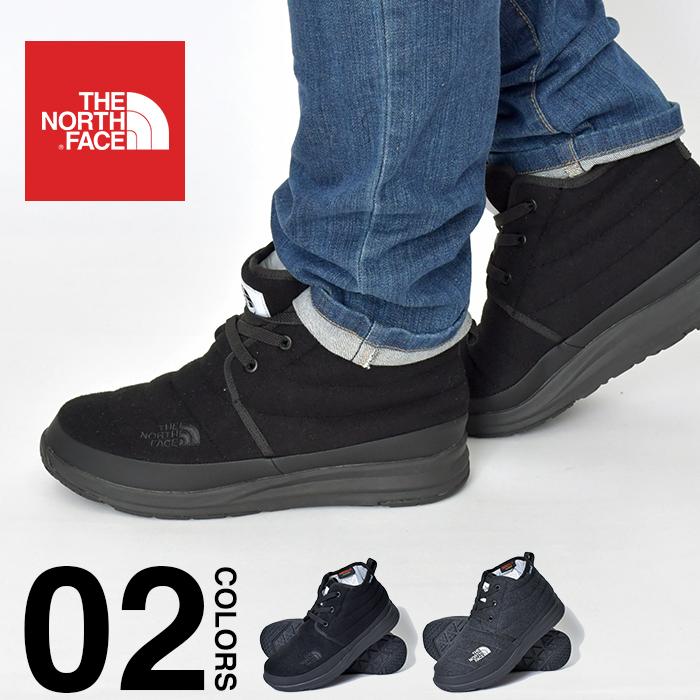 ザ ノースフェイス ブーツ ヌプシ チャッカ メンズ THE NORTH FACE NSE Traction Lite Chukka WP V ヌプシ トラクション ライトチャッカ ウォータープルーフ V 防水 シューズ 大きいサイズ 靴 あったか ブラック グレー NF51986