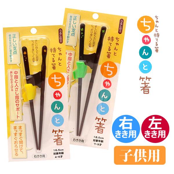 あす楽 しっかり身につく、ちゃんと持てる箸。 イシダ ちゃんと箸 うるし仕上げ 子供用 右きき用 左きき用 矯正箸 日本製