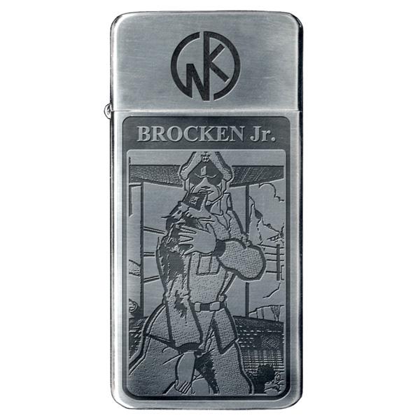 携帯しやすいスリムタイプのオイルライター キン肉マン BRIQUET 公式サイト 現品 スリムオイルライター フリント式 ブロッケンJr. ブリケ