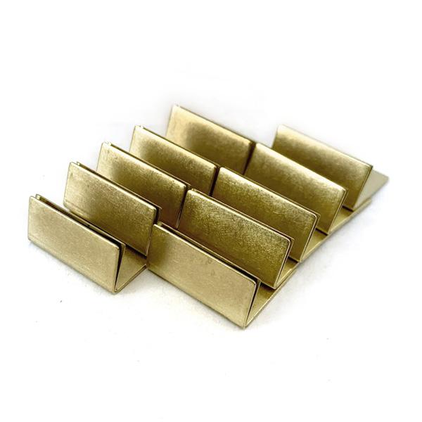BRASS カードスタンド 日本製 アンティーク調 ブラス 真鍮 カードスタンド ノーマルサイズ 10個セット 名刺 ポストカード立て 値札