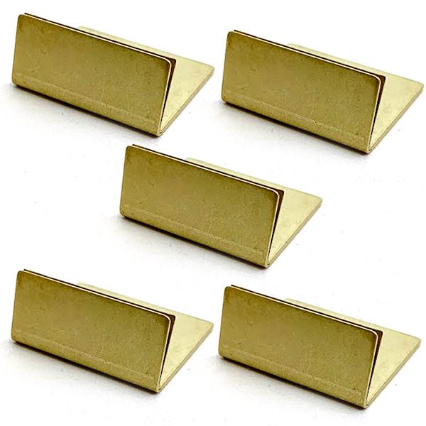 BRASS カードスタンド 日本製 アンティーク調 真鍮 予約販売 ノーマルサイズ 5個 名刺 値札 ポストカード 立て ブラス カード 激安挑戦中 スタンド