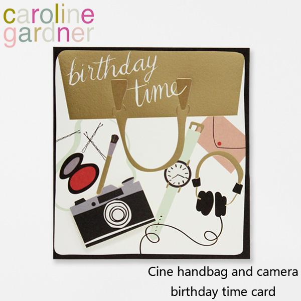 おしゃれでかわいい ふるさと割 大人 誕生日 お祝い プチギフト 雑貨 キャロラインガードナー グリーティングカード バースデー ついに再販開始 タイム カード caroline gardner CIN008ギフト handbag and デザイナーズ プレゼント ロンドン camera UK birthday cardブランド Cine time