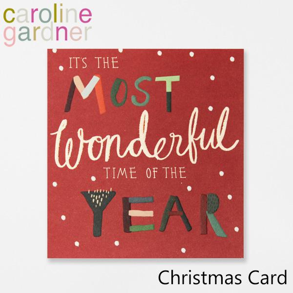 おしゃれでかわいい 贈答 大人 誕生日 お祝い プチギフト 雑貨 キャロラインガードナー グリーティングカード カード UK PNT502ギフト 新作からSALEアイテム等お得な商品満載 プレゼント ロンドン gardner Cardブランド caroline Christmas デザイナーズ