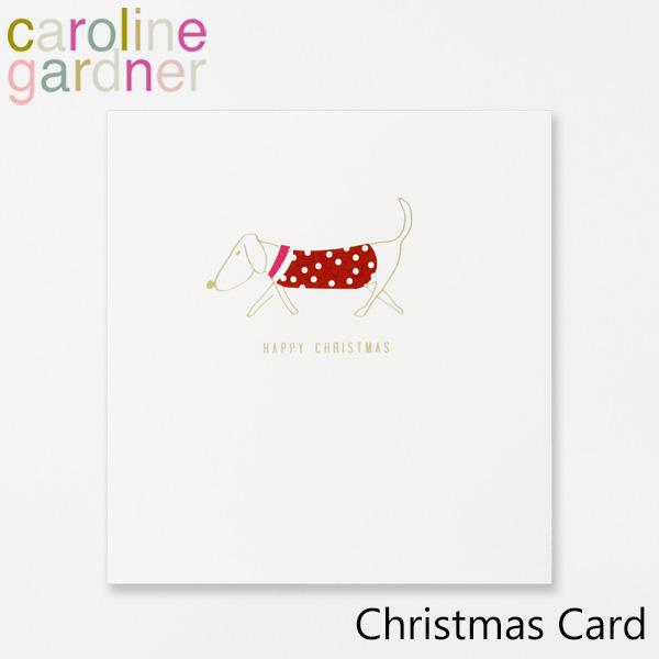 おしゃれでかわいい 大人 誕生日 お祝い プチギフト 雑貨 キャロラインガードナー グリーティングカード カード caroline Christmas Cardブランド プレゼント お買い得 デザイナーズ gardner PNT506ギフト 訳あり品送料無料 ロンドン UK