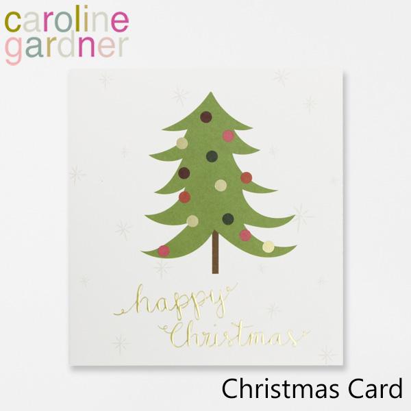 おしゃれでかわいい 大人 誕生日 お祝い プチギフト 雑貨 キャロラインガードナー 新作 人気 グリーティングカード カード UK caroline ロンドン Cardブランド 海外 プレゼント デザイナーズ PNT515ギフト Christmas gardner