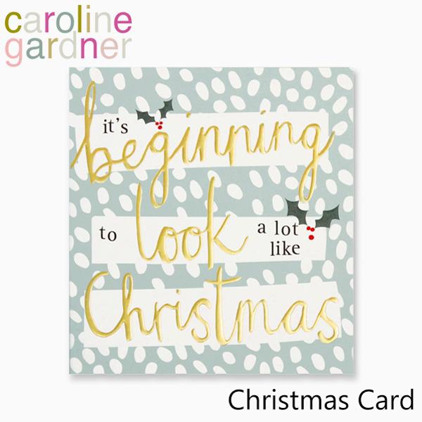 おしゃれでかわいい 大人 誕生日 お祝い プチギフト 雑貨 キャロラインガードナー グリーティングカード カード デザイナーズ 爆安 UK caroline Cardブランド プレゼント 高品質 ロンドン Christmas PNT526ギフト gardner