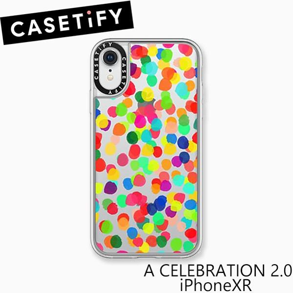 おしゃれでかわいい 大人 誕生日 お祝い プチギフト 雑貨 初回限定 ケースティファイ アイフォン XR ケース ア セレブレイション スマホ CELEBRATION iPhone CASETiFY ブランド LA 2.0 ギフト 海外 プレゼント 35%OFF XRアイフォン A