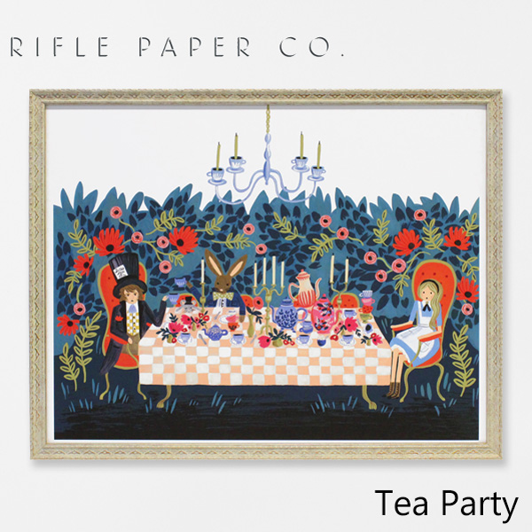 【ポイント20倍!】ライフルペーパー アートプリント・ポスター ティー パーティー RIFLE PAPER CO. Tea Partyブランド デザイナーズ フレーム イン ポスター USA アメリカ 海外 APM098ギフト プレゼント 結婚祝い