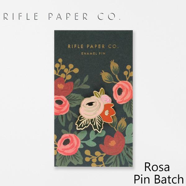 おしゃれでかわいい 大人 誕生日 お祝い 感謝価格 プチギフト 雑貨 ライフルペーパー ピンバッジ 日本 ローザ ピンバッチ RIFLE PAPER ピンズ デザイナーズ プレゼント Pin 海外 Rosa アメリカ EPM005ギフト Batch USA CO. ブランド
