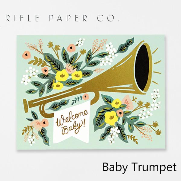 おしゃれでかわいい 大人 誕生日 お祝い プチギフト 雑貨 ライフルペーパー グリーティングカード ベビー トランペット RIFLE デザイナーズ Baby 海外 GCK016ギフト アメリカ 2020新作 カード Trumpetブランド プレゼント CO. 最安値挑戦 USA PAPER