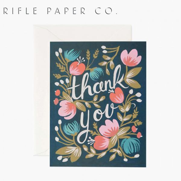 おしゃれでかわいい 大人 誕生日 お祝い プチギフト 雑貨 格安 価格でご提供いたします ライフルペーパー グリーティングカード サンクス ミッドナイト RIFLE ◆高品質 GCT010ギフト プレゼント デザイナーズ PAPER USA 海外 CO. カード Midnightブランド アメリカ