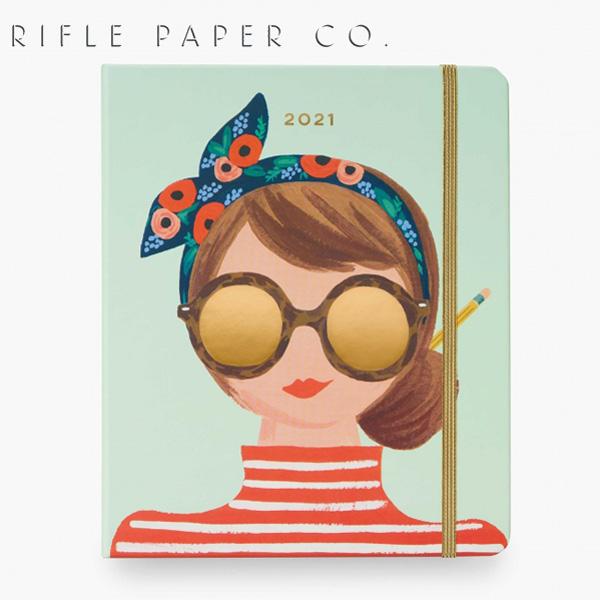 おしゃれでかわいい 大人 誕生日 お祝い プチギフト 訳あり品送料無料 雑貨 RIFLE PAPER CO.ライフルペーパー スケジュール帳PLM020-WONDER GIRL CALENDAR 流行 20212021 WONDER カレンダー プレゼント スケジュールブック 2021ギフト