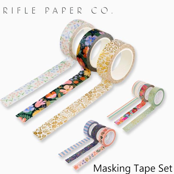 おしゃれでかわいい 大人 誕生日 お祝い プチギフト 雑貨 ライフルペーパー ペーパー テープ マスキングテープ セット RIFLE PAPER デコレーション Setギフトタグ 海外 ブランド 贈答品 シール プレゼント PTA001ギフト Tape CO. USA デザイナーズ Masking 代引き不可 アメリカ