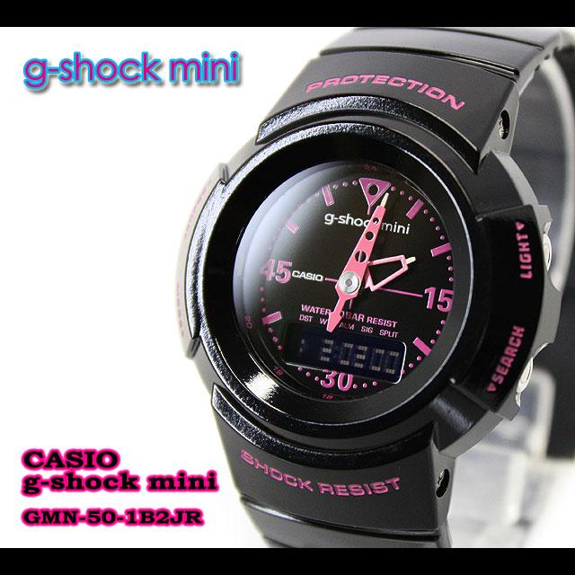 ★ ★ CASIO/G-SHOCK/G shock G-shock g-shock mini g-shock mini ladies watch GMN-50-1B2JR/black/pink ladies