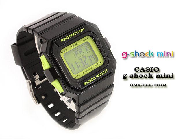 CASIO/G-SHOCK/G shock G- shock G- shock mini g-shock mini women GMN-550-1CJR/black/green Lady's [fs01gm]