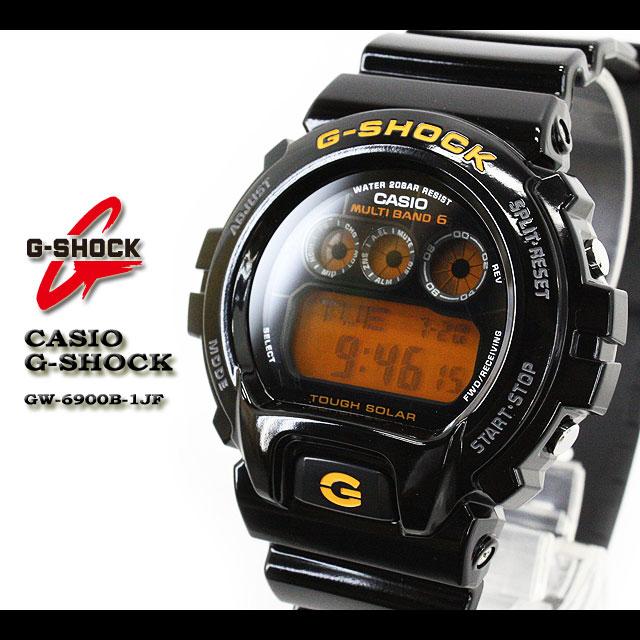 CASIO/G-SHOCK/g-shock g shock G shock G- shock [MULTIBAND6/ multiband 6] radio time signal watch /GW-6900B-1JF/black/orange [fs01gm]