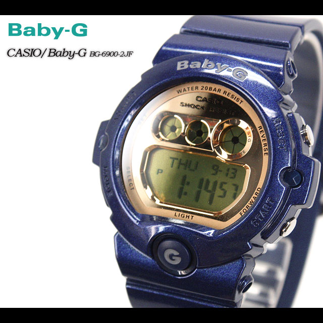 ★ ★ Casio/g-SHOC/g-SHOC g shock G shock G-shock baby-g baby G ladies BG-6900-2JF/blue ladies / watch