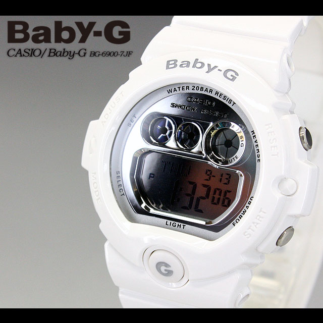 CASIO/G-SHOCK/g-shock g shock G shock G-shock baby-g baby G ladies BG-6900-7JF/white ladies / watch