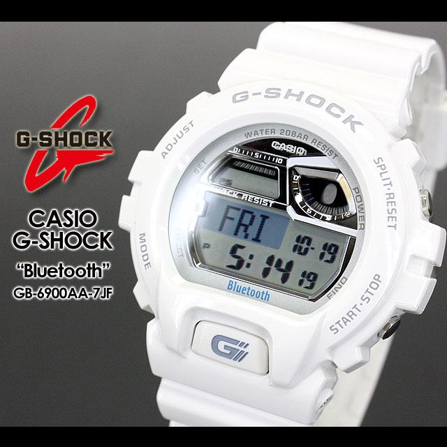 ★ ★ CASIO/G-SHOCK/g-shock g shock G shock G-shock Bluetooth Watch /GB-6900AA-7JF/white iPhone iPhone