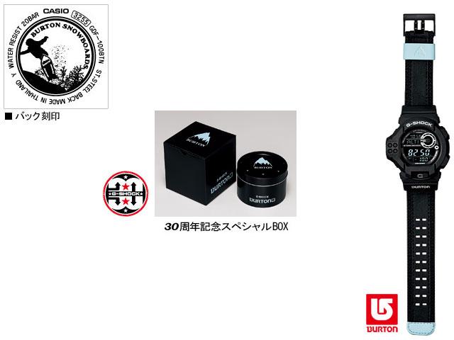★ domestic regular ★ ★ ★ CASIO/G-SHOCK/G shock G-shock 30th anniversary commemorative collaboration limited edition model Burton watch / GDF-100BTN-1JR /black×blue
