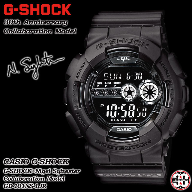 ★ domestic regular ★ ★ ★ CASIO/G-SHOCK / g-shock g shock G shock G-shock 30th anniversary special collaboration model watch / GD-101NS-1JR/ALL BLACK