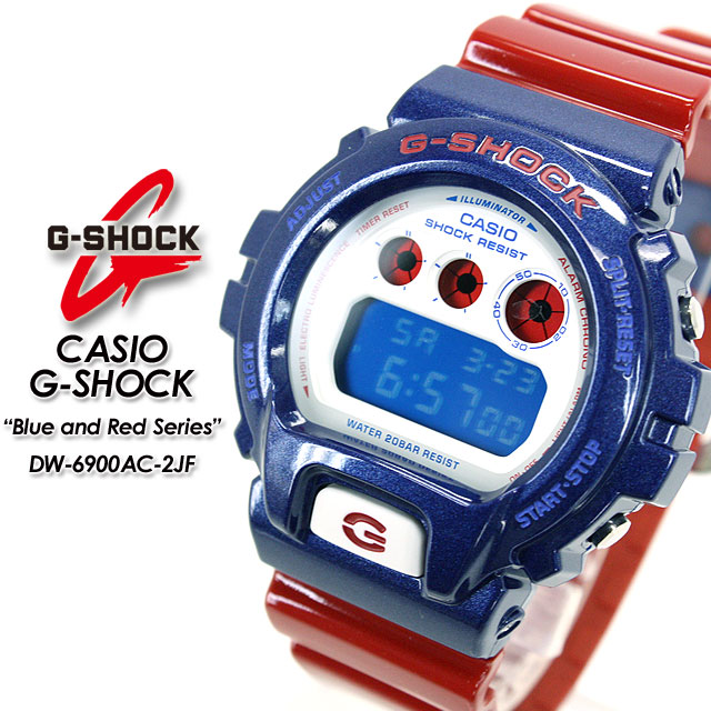 CASIO/G-SHOCK / g-shock g shock G shock G-shock blue & red series watch DW-6900AC-2JF