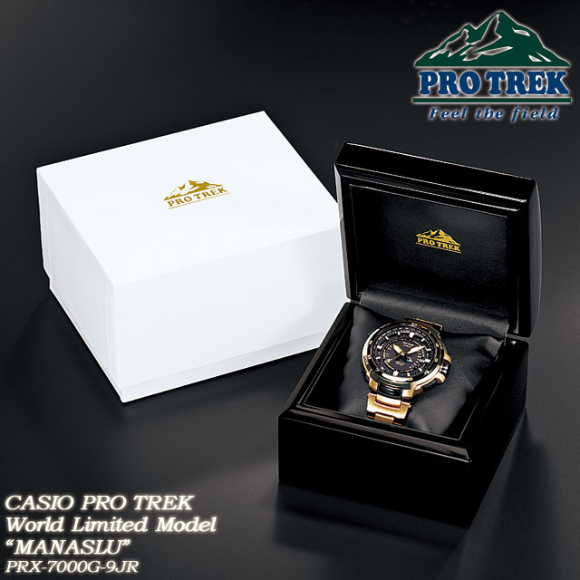 ★ ★ PRO TREK manaslu World Limited Edition 300 pieces / Basel model solar radio wave watches for men / PRX-7000G-9JR CASIO g-shock G shock Casio ""
