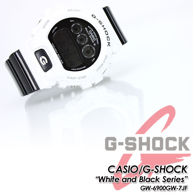 ★ domestic regular ★ ★ ★ CASIO/G-SHOCK g-shock g shock G shock G-shock white & black series solar radio / radio solar watch / GW-6900GW-7JF