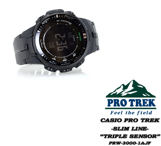 ★★ Watch / PRW-3000-1AJF CASIO G-SHOCK G-Shock willow oak ogee shock for the proto Lec electric wave solar triple sensor men man