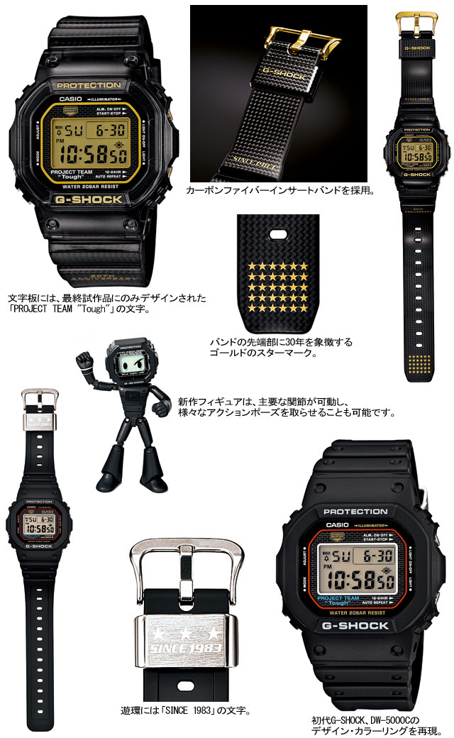 CASIO g-shock G-shock G-shock 30th anniversary commemorative set GSET-30-1JR (DW-5030D-1JR/DW-5030-1JR) watch sellers
