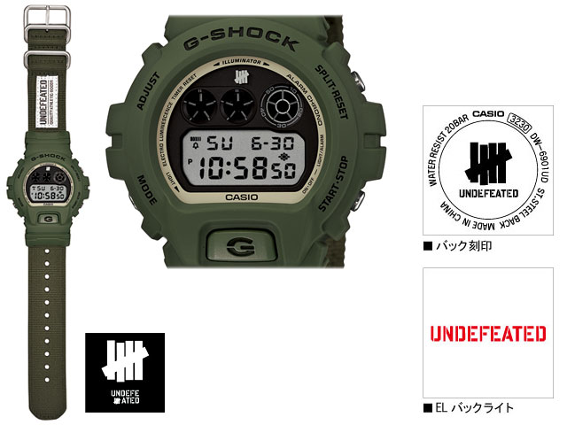 CASIO/G-SHOCK/G shock G-shock 30th anniversary special collaboration model watch and undefeated DW-6901UD-3JR