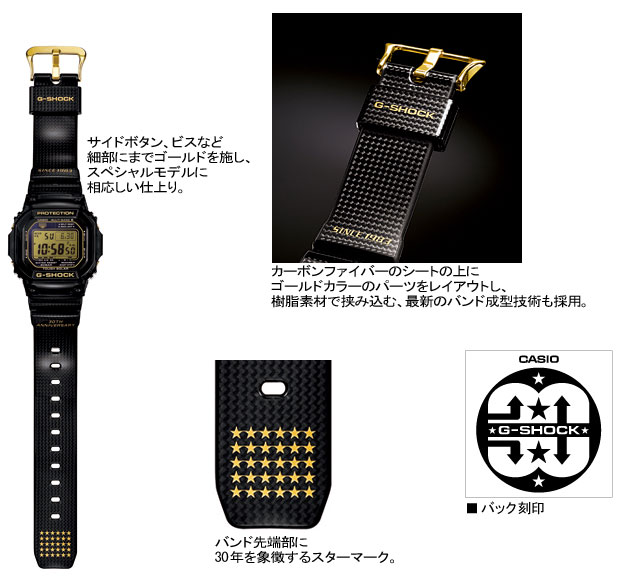 CASIO g-shock solar radio G shock G-shock 30th anniversary anniversary limited model thirty / stars watch / GW-M5630D-1JR