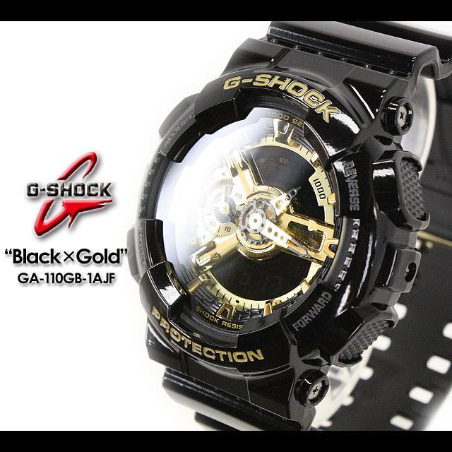 ★送料無料★ G-ショック Gショック GA-110GB-1AJF/black×gold PIC CASIO/G-SHOCK/g-shock 【カシオ ジーショック】ブラック×ゴールド シリーズ 【Black × Gold Series】 腕時計