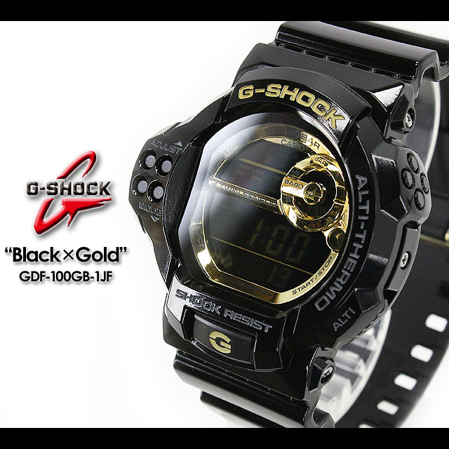 ★ ★ CASIO/G-SHOCK/G shock G-shock black × gold series watch /GDF-100GB-1JF/black×gold [fs01gm]