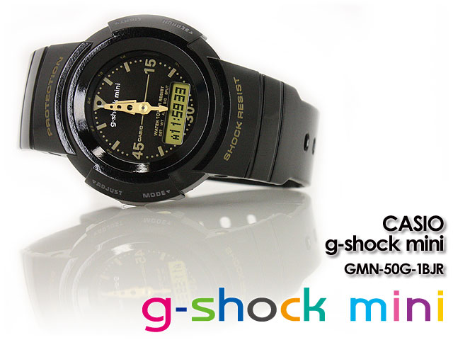 CASHIIO/G-SHIHOCK/G shock G shock g-shock mini g-shock mini ladies watch GMN-50G-1BJR/BLACK ladies