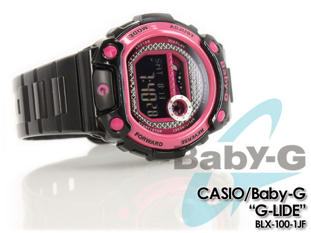 ★ ★ CASIO/G-SHOCK/g-shock g shock G shock G-shock Color Display Series/G-LIDE baby-g baby G baby g ladies watch BLX-100-1JF/black-pink ladies