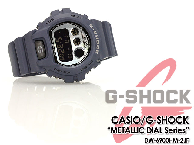 ★★ CASIO/G-SHOCK/g-shock g shock G-Shock G- shock metallic dial series watch /DW-6900HM-2JF/navy
