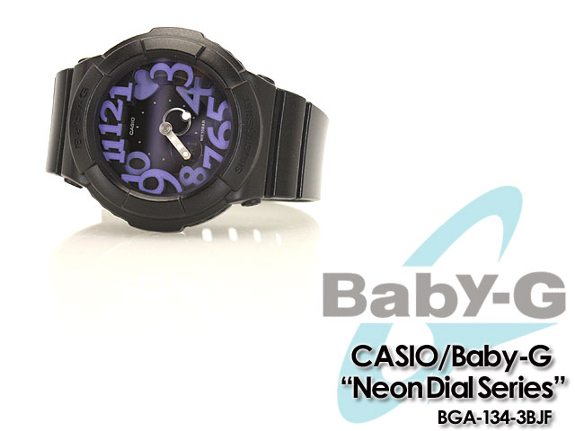 ★ ★ CASIO/G-SHOCK/g-shock g shock G shock G-shock baby-g baby G ladies Watch (neon dial series) BGA-134-1BJF / women's watch