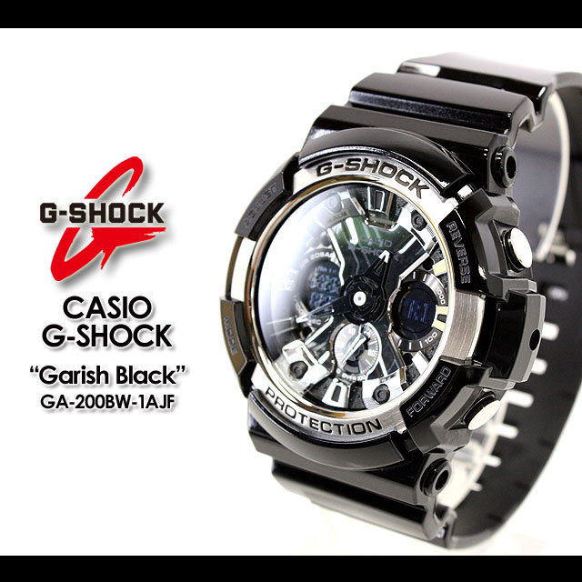 ★ ★ 卡西欧/G-休克/g-休克 g 冲击 G 冲击 g-shock 观看 GA-200BW-1AJF/黑色