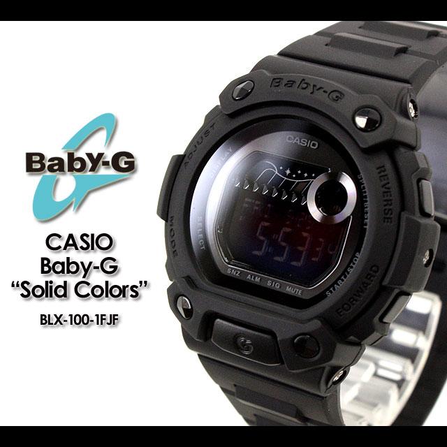 CASIO/G-SHOCK/g-shock g shock G shock G-shock baby-g baby G women's BLX-100-1FJF/matte black women's / watch