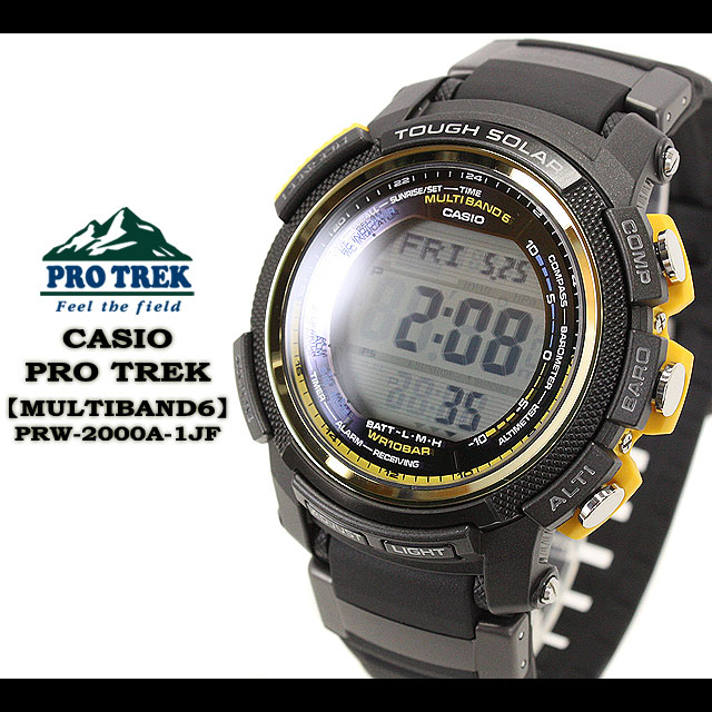 ★ ★ CASIO/G-SHOCK/g-shock g shock G shock G-shock PRO TREK / multiband 6 watch /PRW-2000A-1JF/black mens