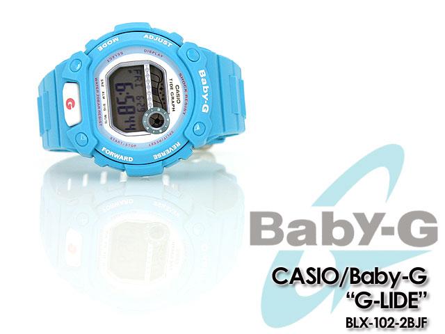CASIO/G-SHOCK/g-shock g shock G shock G-shock baby-g baby G ladies BLX-102-2BJF/light blue women's / watch