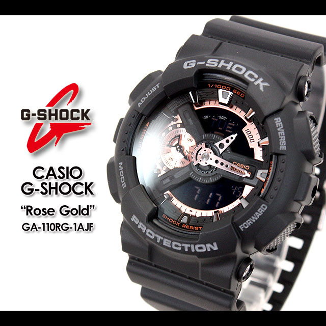 ★ ★ CASIO/G-SHOCK/g-shock g shock G shock G-shock rose gold watch /GA-110RG-1AJF/black new