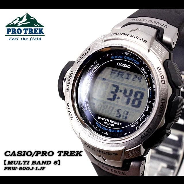 ★ ★ Casio/g-SHOC/g-SHOC g shock G shock G-shock PRO TREK / multi-band 5 men's watch /PRW-500j-1JF/BLAC