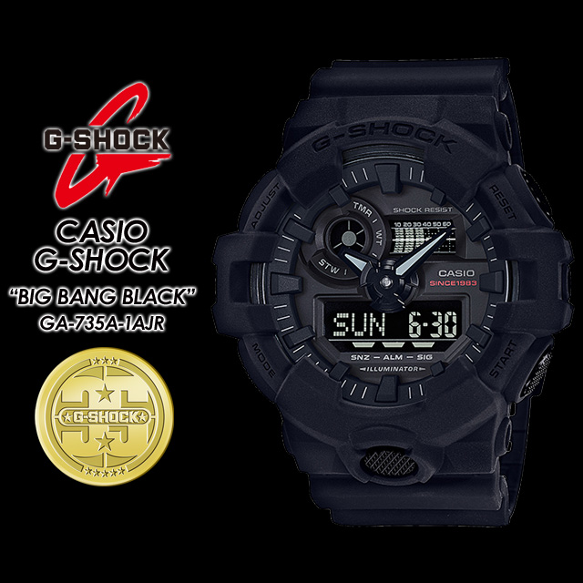 ★国内正規品★★送料無料★ G-ショック Gショック GA-735A-1AJR CASIO / G-SHOCK 35th Anniversary ビッグバンブラック 【BIG BANG BLACK】腕時計